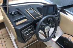 Helm of the 2021 Moomba Mondo Wake Boat