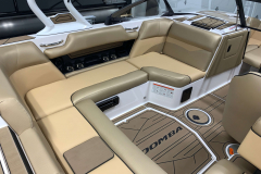 Honey Interior Color on the 2021 Moomba Mondo Wake Boat
