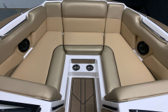 Interior Bow Layout of the 2021 Moomba Mondo Wake Boat