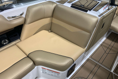 Recessed Glove Box of the 2021 Moomba Mondo Wake Boat