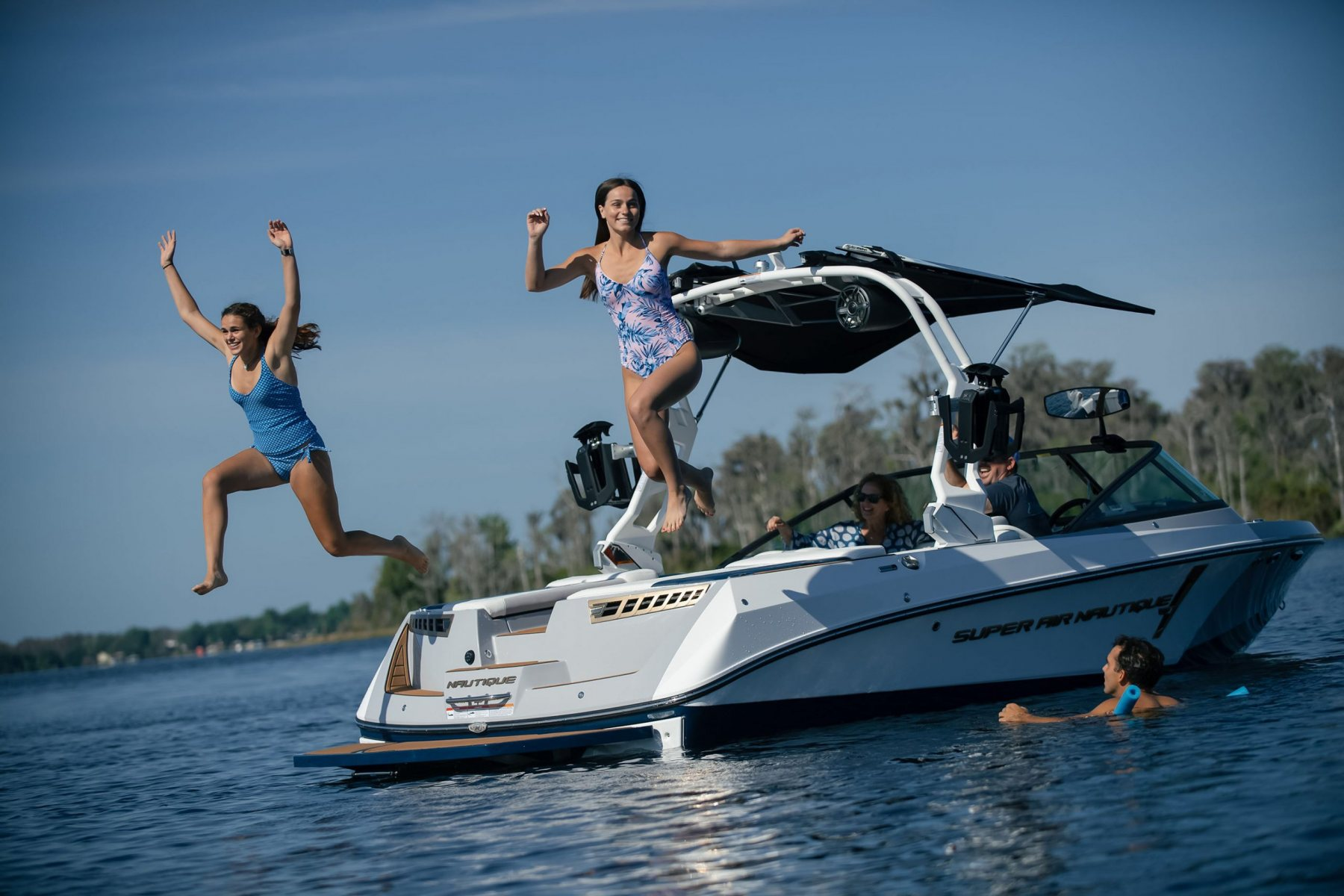 Family Time on the 2022 Nautique 210 Wake Boat