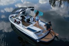Transom Walkthrough of the 2022 Nautique 210 Wake Boat