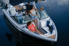 Bow Seating of the 2022 Nautique 210 Wake Boat