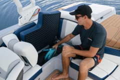 Deep Storage Compartments of the 2022 Nautique 210 Wake Boat