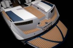 Fiberglass Swim Platform of the 2022 Nautique 210 Wake Boat