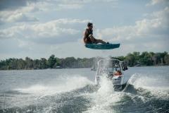 Wakeboarding Behind the 2022 Nautique 210 Wake Boat