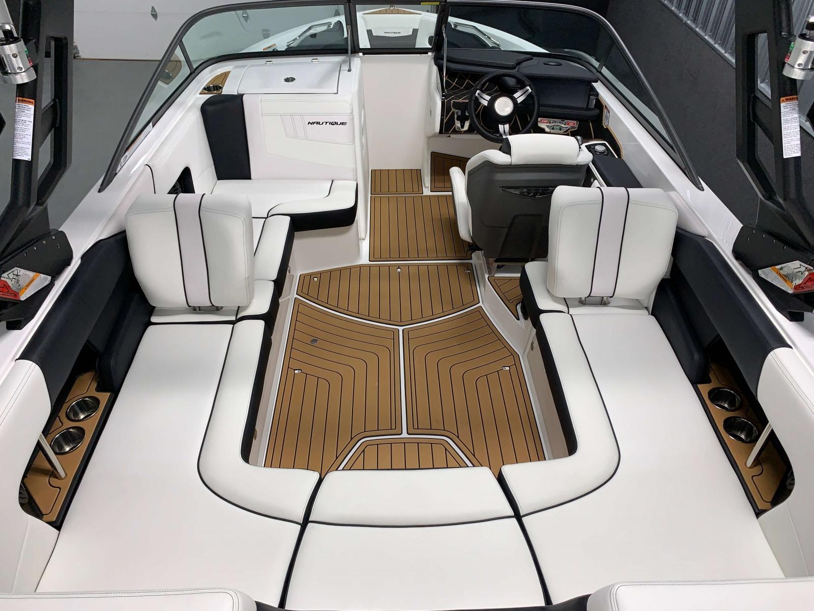 Interior Layout of the 2021 Nautique 230 Wake Boat
