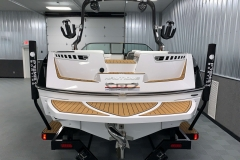 Fiberglass Swim Platform of the 2021 Nautique 230 Wake Boat