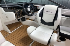 Helm of the 2021 Nautique 230 Wake Boat