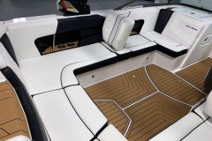 Removable Lean Back Seat (Port) of the 2021 Nautique 230 Wake Boat