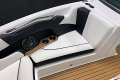 Interior Bow Seating of the 2021 Nautique 230 Wake Boat