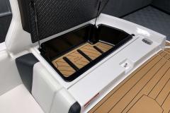 Transom Storage of the 2021 Nautique 230 Wake Boat