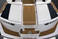 Transom Walkthrough Design of the 2021 Nautique 230 Wake Boat