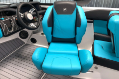 Adjustable Helm Seat of the 2021 Nautique GS22 Wake Boat