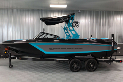 Reef Blue Exterior on the 2021 Nautique GS22 Wake Boat