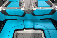Reef Blue Interior on the 2021 Nautique GS22 Wake Boat