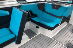 Convertible Rear Facing Observer Seat of the 2021 Nautique GS22 Wake Boat