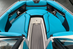 Interior Bow Layout of the 2021 Nautique GS22 Wake Boat
