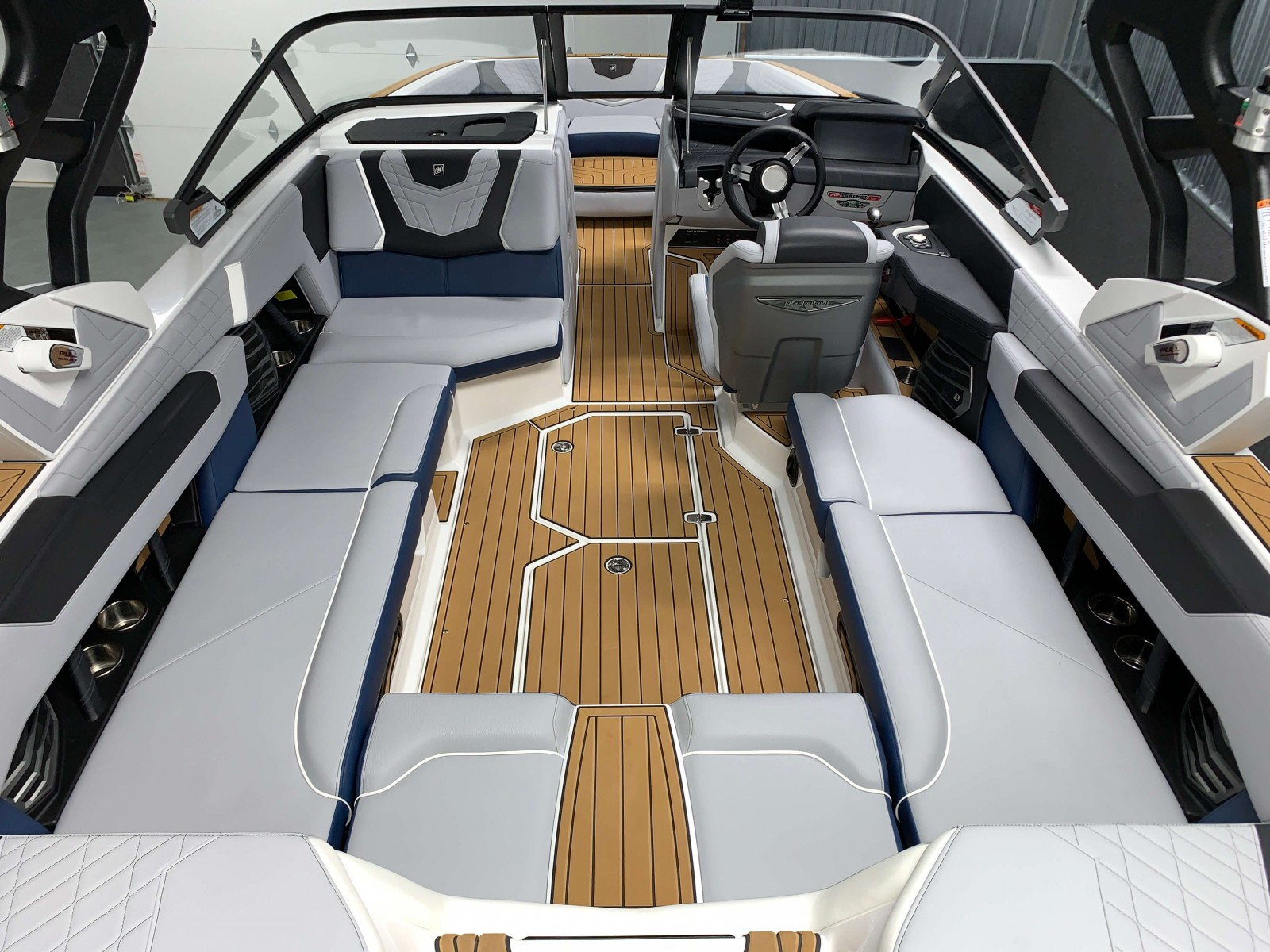 Interior Seating of the 2021 Nautique G23 Wake Boat