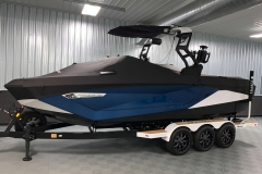 Full Mooring Cover of the 2021 Nautique G23 Wake Boat