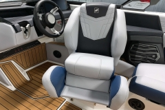 Captain's Helm Chair Bolster of the 2021 Nautique G23 Wake Boat