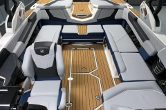 Interior Rear Layout of the 2021 Nautique G23 Wake Boat