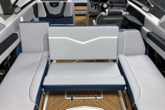 Rear Facing Seat Configuration of the 2021 Nautique G23 Wake Boat