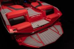 Rear Transom Seats on the 2022 Nautique G23 Wake Boat