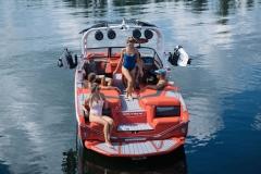 Transom Walk-Through Design of the 2022 Nautique G23 Wake Boat
