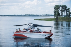 Extended Sun Shades on the 2022 Nautique G23 Wake Boat
