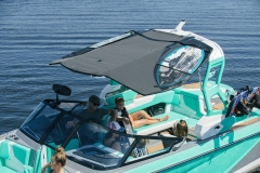 Bimini Top Surf Storage on the 2022 Nautique G25 Wake Boat
