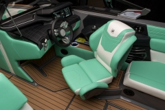 Actuated Helm Seat on the 2022 Nautique G25 Wake Boat