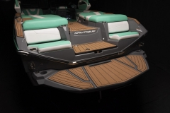 Comfortable Transom Seats of the 2022 Nautique G25 Wake Boat