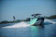 Wakeboarding Behind the 2022 Nautique G25 Wake Boat