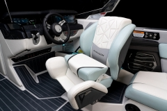 Actuated Helm Seat on the 2022 Nautique G25 Paragon Wake Boat