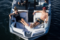 Bow Seating of the 2022 Nautique G25 Paragon Wake Boat