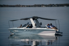Extended Sunshades on the 2022 Nautique G25 Paragon Wake Boat