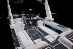 Cockpit Layout of the 2022 Nautique G25 Paragon Wake Boat