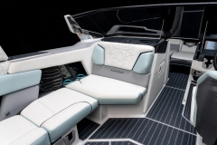 Steel Blue Interior on the 2022 Nautique G25 Paragon Wake Boat