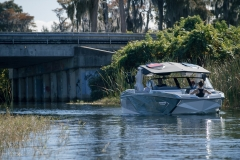 Telescoping Tower of the 2022 Nautique G25 Paragon Wake Boat