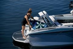 Transom Storage of the 2022 Nautique G25 Paragon Wake Boat