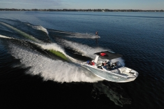 Wakeboarding Behind the 2022 Nautique G25 Paragon Wake Boat