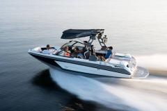 Running Shot of a 2022 Nautique GS20 Wake Boat