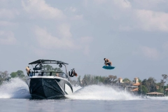 Wakeboarding Behind a 2022 Nautique GS20 Wake Boat