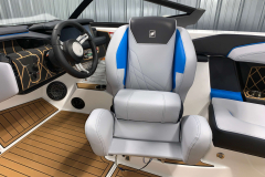 Helm Seat Bolster of the 2021 Nautique GS20 Wake Boat