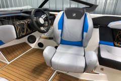 Helm Seat of the 2021 Nautique GS20 Wake Boat