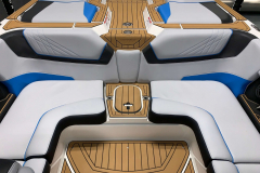Interior Aft Layout of the 2021 Nautique GS20 Wake Boat