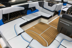 Masters Blue Interior Accents on the 2021 Nautique GS20 Wake Boat