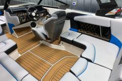 Wraparound Seating Configuration of the 2021 Nautique GS20 Wake Boat