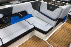 Recessed Glove Box of the 2021 Nautique GS20 Wake Boat